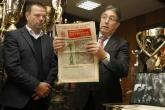 Футбол - фамилия Орманджиеви направи дарение на музея на спортната слава ЦСКА - 20.11.2014