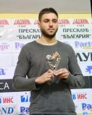 Футбол - награждаване на Радослав Василев / СЛАВИЯ / - играч на XVII кръг - 04.12.2014