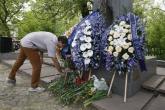Футбол - поднасяне на цветя на паметника на Георги Аспарухов - Гунди - 04.05.2015