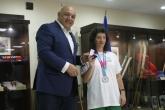 Министър Красен Кралев връчи почетни медали на медалистите от Световните Спешъл Олимпикс Игри - 04.08.2015
