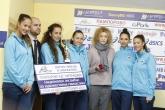 Художествена гимнастика - награждаване отбор на м. Септември - 30.10.2015