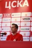 Футбол - пресконференция на Христо Янев / ЦСКА / - 11.06.2016