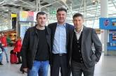 Футбол - Национали - Михайлов-Балъков-Йорданов  с обща снимка в Лисабон - 24.03.16