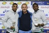 Футбол - награждаване на Матиас Курьор и Бакари за играчи на кръга -28.04.2016