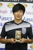 Футбол - награждаване - играч на 2 ри кръг - Кохей Като - 15.08.2016