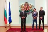 Футбол - Президентът на България Румен Радев посрещна Димитър Бербатов и Луиш Фиго - 14.06.2017
