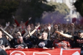 Футбол - Шествие на феновете на ЦСКА преди мача с Левски - 21.10.2017