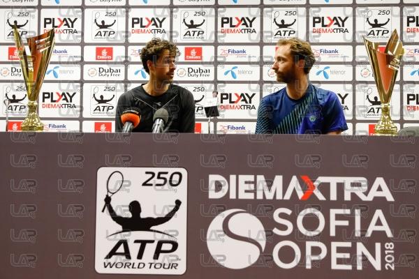 Тенис - АТП 250 - Пресконференция на Робин Хаосе и Матвей Миделкооп - 11.02.2018