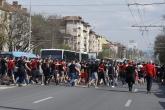 Футбол - шествие на ЦСКА преди мача за Купата - 11.04.2018