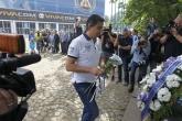 Футбол - Поднасяне на венци и цветя на паметника на Георги Аспарухов - Гунди