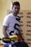 Футбол - награждаване играч на кръга - Станислав Костов и Габриел Обертан - 04.10.2018