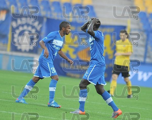 19 Basile De Carvalho and 31 Marcio Ivanildo da Silva Marcinho- Football game - Levski Sofia - Botev