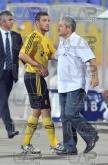 Coach Ferario Spasov - right - Football game - Levski Sofia - Botev Plovdiv ,19.08.12 - Sofia - Geor