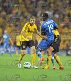 19 Basile De Carvalho - left and Asen Karaslavov - Football game - Levski Sofia - Botev Plovdiv ,19.