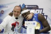 Баскетбол - Пресконференция на Тити Папазов  и Джумейн Джоунс след победата над Галил Гилбоа на