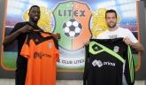 Футбол - Представяне на нови футболисти на ПФК Литекс - Джаксън Менди и Винисиус Баривиера - 17.06.2014